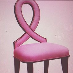 Ribbon chair breast cancer .
