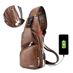 Travel Backpack Small Shoulder Bag Cross Body Sling Bags Fashion Chest Bag  with USB Charging Port Headphone Plug For Mens Mans Teens Adults Outdoor  Hiking ... 5e54405652859