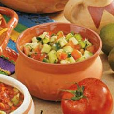 Cucumber Salsa Recipe - Zippy jalapeno, tart lime juice and garden-fresh cucumbers take center stage in this chunky salsa