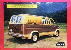 """Norwegian Wood"" customized 1975 Ford van"