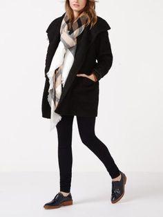 Manteau portefeuille de maternité en laine