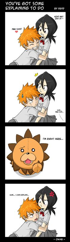 This is a pic I drew like a month ago XDDD and I just finished coloring it today XD I hope you guys like! Lol ichigo want rukia to give him a shot XD Cuz she's so sexy Dx He doesn't want rukia to g...