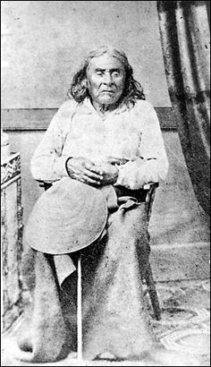 Chief Seattle, in 1864; a poignant speech that he supposedly made, about the Native Americans' stance about environmentalism, was found to be the fabrication of a filmmaker. Photo by L.B. Franklin. Public domain.