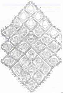 Free diagrams for crochet pineapple stitches! The ultimate resource for creating pineapple stitch crochet for… Filet Crochet, Crochet Doily Diagram, Crochet Stitches Patterns, Crochet Chart, Thread Crochet, Crochet Table Runner, Crochet Tablecloth, Lace Doilies, Crochet Doilies
