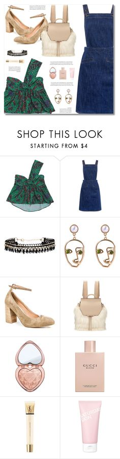 """""""Cute Free Style"""" by defivirda ❤ liked on Polyvore featuring M.i.h Jeans, mi.im, Kendall + Kylie, Too Faced Cosmetics, Gucci, Yves Saint Laurent and Saturday Skin"""
