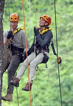 Kate Middleton - Will and Kate climb trees