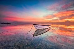 Was a perfect day to be Pinky , Purple and an orang sky with alone boat of Billabong :) I`m really enjoyed to be here for sunrise . By now the sky in Bali is incridible , hope you enjoyed my photography