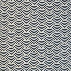 青海波 (wave-pattern) for peaceful life Boho Pattern, Greek Pattern, Mandala Pattern, Abstract Pattern, Pattern Design, Design Textile, Design Floral, Japanese Patterns, Japanese Fabric