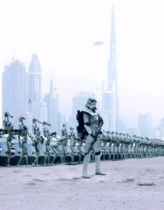 STAR WARS XXI Stormtroppers,Driods,and Snowtroppers are attacking the land.I wouldn't be suprise if you got shot.