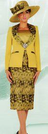 Ben Marc Specials 47527 Three Piece Womens Church Suit With Print