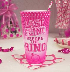 Last Fling Bachelorette Party Cup
