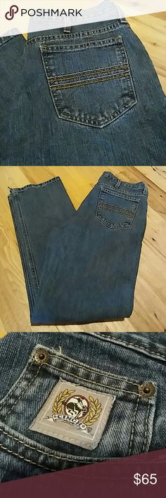 Cinch Jeans Rocky Mountain Clothing Cinch Jeans Size 33x32 The jeans have a slit on both bottoms (pictured) Other then that they are in excellent condition  *Please Note: the tag does not say whether or not they are bootcut. I just put that it was* cinch Jeans Bootcut