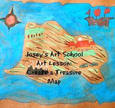 Treasure Maps History Lesson and Art Project Grade Common Core ELA Common Core Ela, Common Core Standards, Joy Art, Treasure Maps, Art School, Art Lessons, Art Projects, Detail, History