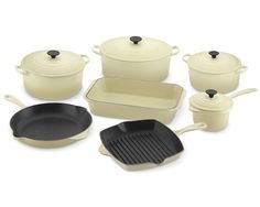 Le Creuset Clic Cookware Set In Dune