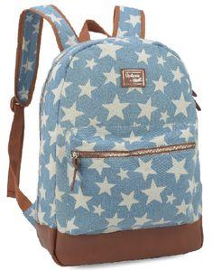 9933481e7 Mochila Feminina Up4you Larissa Manoela Jeans para Notebook MS48489UP-AZ  Azul