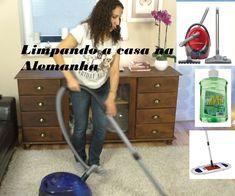 Limpando a casa na Alemanha. Produtos de limpeza que uso.