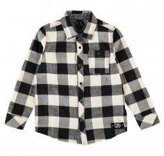 Molo Kids Shirt Richie Black/White checkered