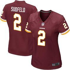Women's Nike Washington Redskins #2 Nate Sudfeld Game Burgundy Red Team Color NFL Jersey