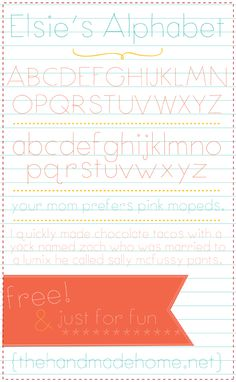 elsie's alphabet - the font snob club : free fonts by the handmade home