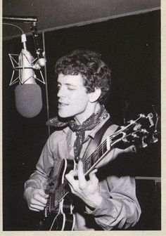 Lou Reed in the studio recording the Velvet Underground's self titled 3rd record.