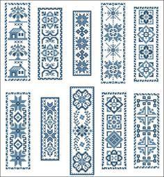 free cross stitch blue work - Google Search