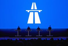 Kraftwerk en directo. Diseño Emil Schult