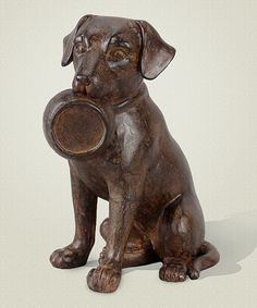 Take a look at this Dog & Dish Figurine today!