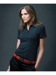 FILA Women's CORSICA Striped Polo  www.shopfilagolf.com