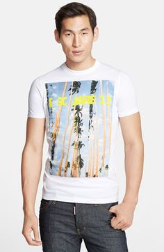 Dsquared2 'Palm Art' Graphic T-Shirt available at #Nordstrom