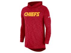 huge selection of cc3b3 39ee8 Kansas City Chiefs Nike NFL Mens Dri-Fit Cotton Slub On-Field Hooded  T-Shirt