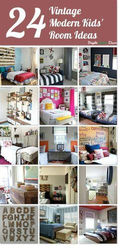 Vintage Modern Kids Rooms www.BrightGreenDoor.com
