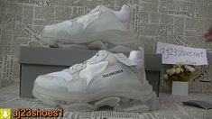 Unboxing ReviewBalenciaga 19SS Triple S Clear Sole Trainers White 1f0f9ab97