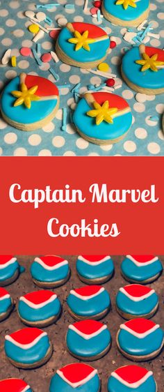 Captain Marvel Cookies | Captain Marvel Cake | Captain Marvel Birthday Marvel Birthday Cake, Marvel Cake, Avengers Birthday, Birthday Cake Girls, Captain Underpants, Captain Marvel, Avenger Party, Cookie Videos, 10th Birthday Parties
