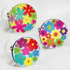 """Stöpselaufkleber """"Flower Power 1"""" Sticker Set – 3 Aufkleber"""