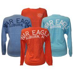 Comfy long sleeve university tee is a fall necessity! #auburn #WDE #fall
