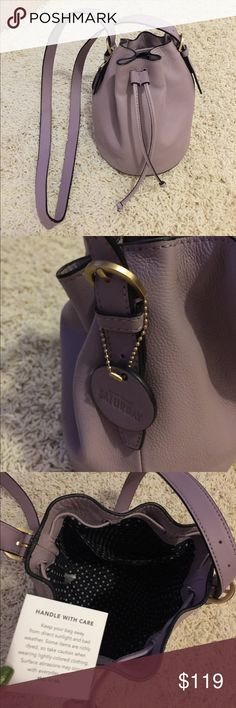 NWOT Kate Spade Saturday crossbody New without tag Kate spade Saturday crossbody in lavender  color , super cute and soft leather, never carried kate spade Bags Crossbody Bags