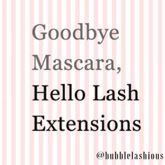 #TuesdayTip //mascara residue on eyelashes will compromise the contact area between eyelashes and fake eyelashes.  www.bubblelashious.com