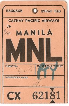 Vintage baggage tag