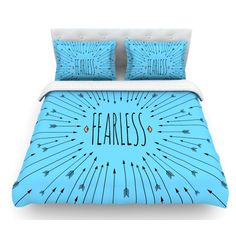 East Urban Home Fearless by Skye Zambrana Featherweight Duvet Cover Size: King