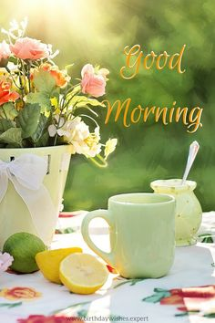 Morning Images have such a power to brighten our day when we stumble upon them! This collection features good morning quotes, all on pics of beautiful flowers. Good Morning Flowers, Good Morning Sunshine, Good Morning Picture, Good Morning Messages, Good Morning Good Night, Morning Pictures, Good Morning Wishes, Good Morning Images, Morning Blessings