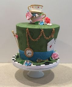 Mad Hatter Tea Party Birthday Cake on Cake Central