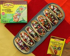 These stand & stuff chipotle lime chicken tacos are both the perfect weeknight dinner and the ultimate party food! Chipotle Tacos, Chipotle Sauce, Easy Fish Tacos, Lime Chicken Tacos, Crispy Tacos, Proper Tasty, Taco Mix, Cooking Dishes, Seasoning Mixes