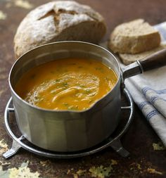 A flavoursome healthy soup with fresh and ground coriander. Serve with cheese and onion bread for a warming supper or lunch.