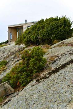 BESKJEDEN: Hytta har en lavmælt stil og glir godt inn i landskapet.