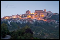 La Morra, Italy at night