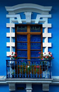 Colorful window in Quito, Ecuador. Photo by Anthony John Coletti.