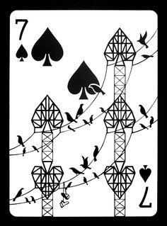 Emmanuel Jose's cut paper card prints