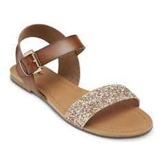 The most adorable, yet everyday appropriate sandal ever! Click picture above or go to http://goto.target.com/c/139693/81938/2092?u=http%3A%2F%2Fwww.target.com%2Fp%2Fwomen-s-lakitia-embellished-sandals%2F-%2FA-16645360%23prodSlot%3Dlarge_1_2 to go directly to the sandal online. Glitter Sandals, Strappy Sandals, Cute Sandals, Flat Sandals, Slingback Shoes, Gold Sandals, Pumps, Shoes Sandals, Embellished Sandals