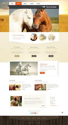 Template 49490 - Horse Breeder Responsive Website Template