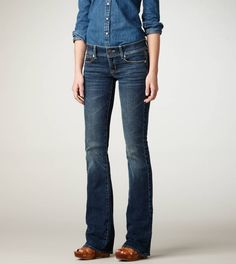 im not this skinny... but i live in slim boot jeans from american eagle. love them!